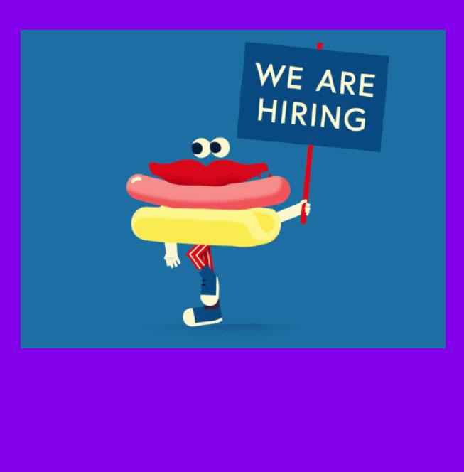 We´re hiring! Praktikum Grafik Design